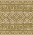 brown native american ethnic pattern vector image vector image