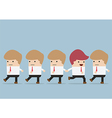 Businessman go to different way of his team Indi vector image