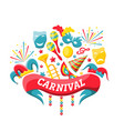 celebration festive banner for happy carnival vector image vector image