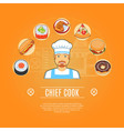 Chief Cook Concept Icons vector image vector image