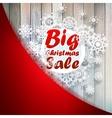 Christmas snowflakes with big sale EPS10 vector image vector image