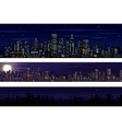 City Skyline Collection of Night Skyline vector image vector image