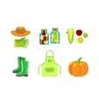 Conservation food and gardening tools vector image