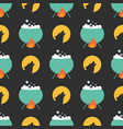 cute halloween seamless pattern background design vector image vector image