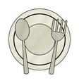 dish and cutlery vector image
