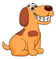 Dog cartoon sitting vector image vector image