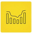 Dynamics icon Statistic chart sign vector image vector image