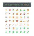 ecology icon set with colorful modern flat style vector image vector image