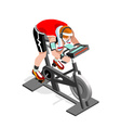 Exercise Bike Spinning Fitness Class Isometric vector image vector image