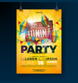 festa junina party flyer design with typography vector image vector image