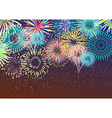 Festive Firework Abstract Background vector image vector image