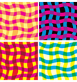 funky seamless patterns vector image vector image