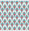 Geometric abstract retro seamless pattern on white vector image vector image