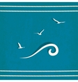 gull marine old background vector image vector image