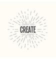 hand drawn sunburst - create vector image vector image