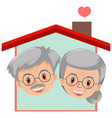 happy grandparents logo on white background vector image vector image