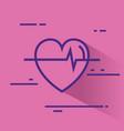 heart cardio healthy icon vector image