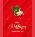 holiday card with a bouquet christmas tree vector image