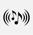 icon musical notes symbol music vector image