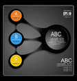 infographics on a black background vector image vector image