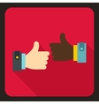 International gesture approval icon flat style vector image vector image
