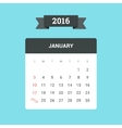 January 2016 Calendar vector image vector image