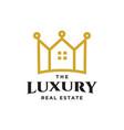 luxury real estate logo vector image