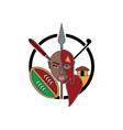 Maasai-Tribe-Sign-380x400 vector image vector image