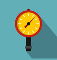 manometer or pressure gauge icon flat style vector image vector image