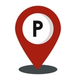 Map pointer icon flat style vector image