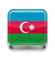 Metal icon of Azerbaijan vector image vector image