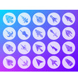 mouse cursor shape carved flat icons set vector image vector image