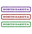 north dakota watermark stamp vector image vector image