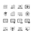 Online education icon vector image vector image