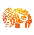Ornamental elephant shape vector image vector image