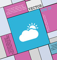 Partly Cloudy icon sign Modern flat style for your vector image