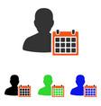 patient calendar flat icon vector image vector image