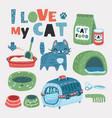pet grooming set vector image vector image