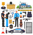 Police policeman character and