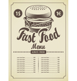 retro hamburger vector image vector image