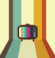 Retro vintage television flat design vector image