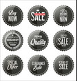 sale dark gray stickers collection vector image