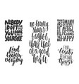 set motivational and inspirational hand drawn vector image