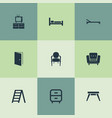 Set of simple furniture icons