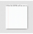 sheet of paper on transparent background vector image vector image