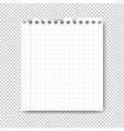 sheet paper on transparent background vector image vector image