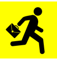 sign running man vector image vector image