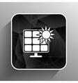 Solar energy panel icon sun power vector image vector image