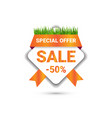 special offer tag seasonal mothers day sale badge vector image vector image