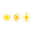 sun dots icons summer rest sign travel agency vector image vector image